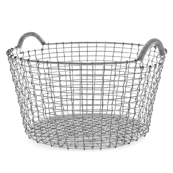 Classic 35 wire basket by Korbo made from stainless steel