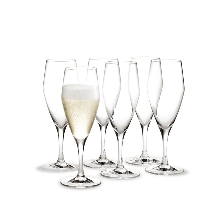 Holmegaard - Perfection champagne glasses, 125 mL (set of 6)