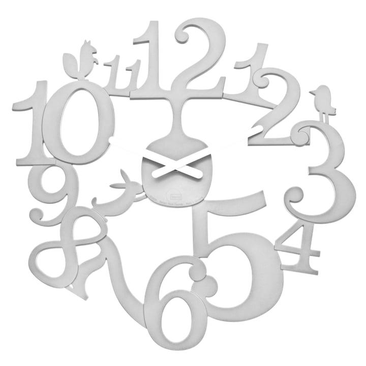 Koziol - [pi:p] wall clock, white