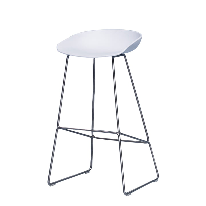 Hay - About A Stool AAS 38 bar stool H 85, stainless steel / white