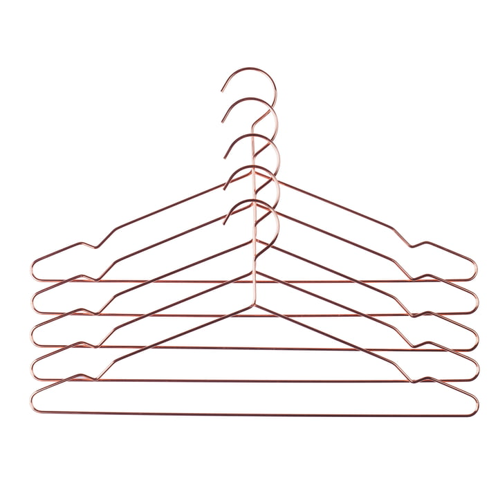 Hay - Hang Hangers set of 5, copper