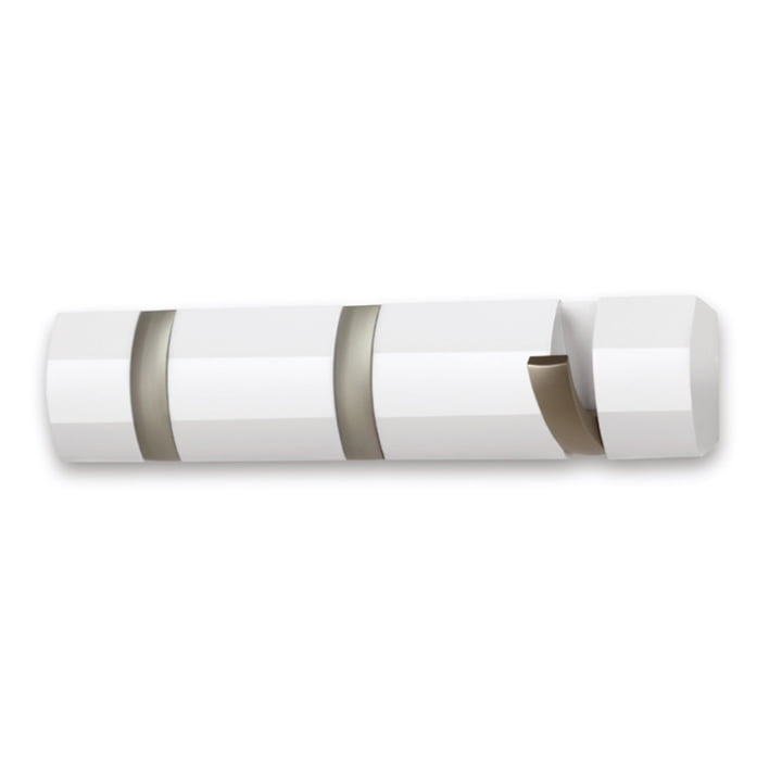 Flip Hook 3er Wardrobe rail from Umbra in white