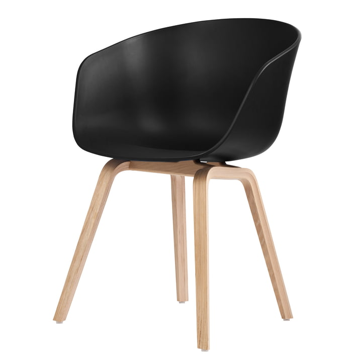 About A Chair AAC 22 by Hay in soaped oak / black