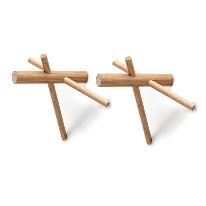 Normann Copenhagen - Sticks Hook, natural, set of 2