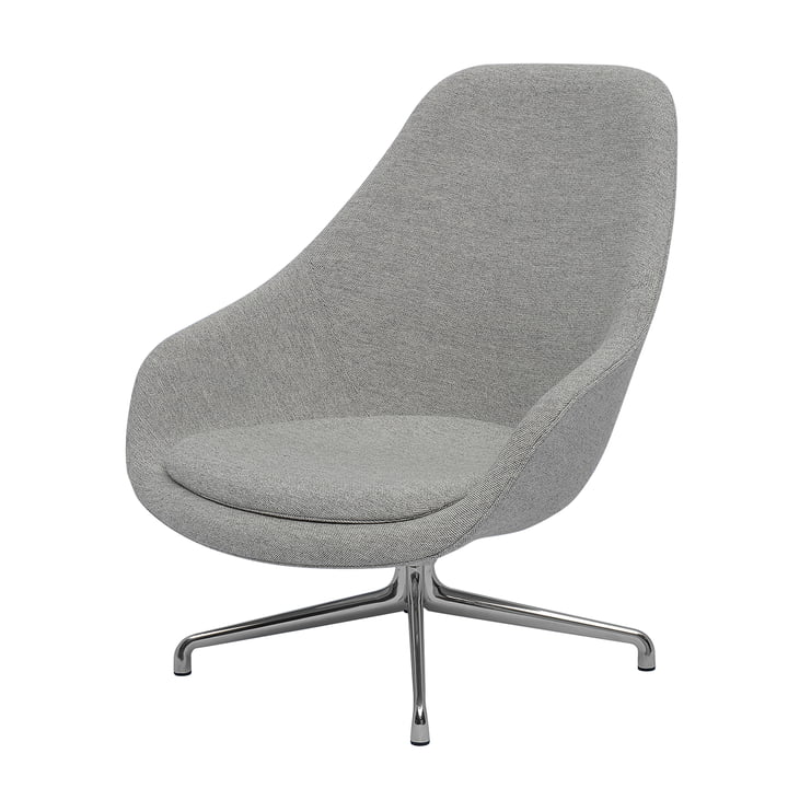 Hay - About A Lounge Chair, High / AAL 91, Remix light gray (123)