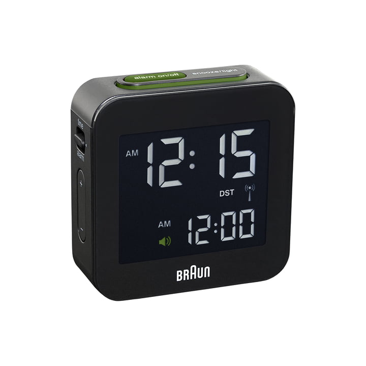 Digital wireless alarm clock BNC008 from Braun in black