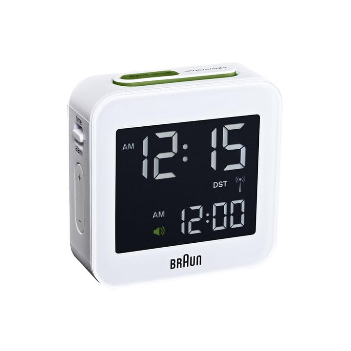 Digital radio alarm clock BNC008 from Braun in white