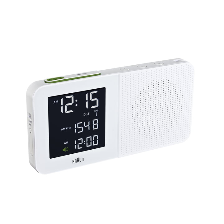Braun - Digital Radio Alarm Clock BNC010, white