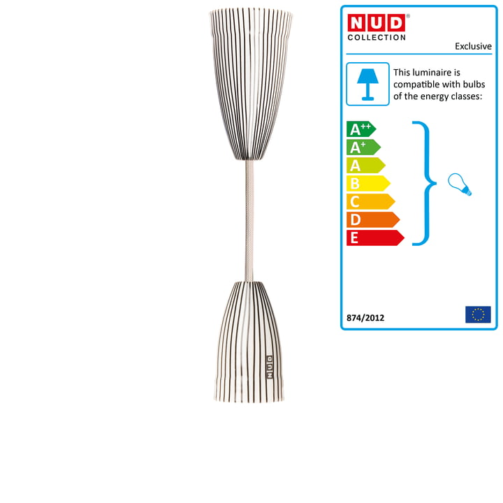 Exclusive pendant lamp by nud collection connox nud collection exclusive white and striped aloadofball Images