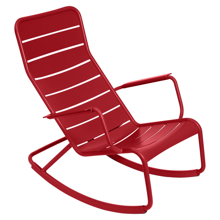 Luxembourg Rocking chair by Fermob in poppy red