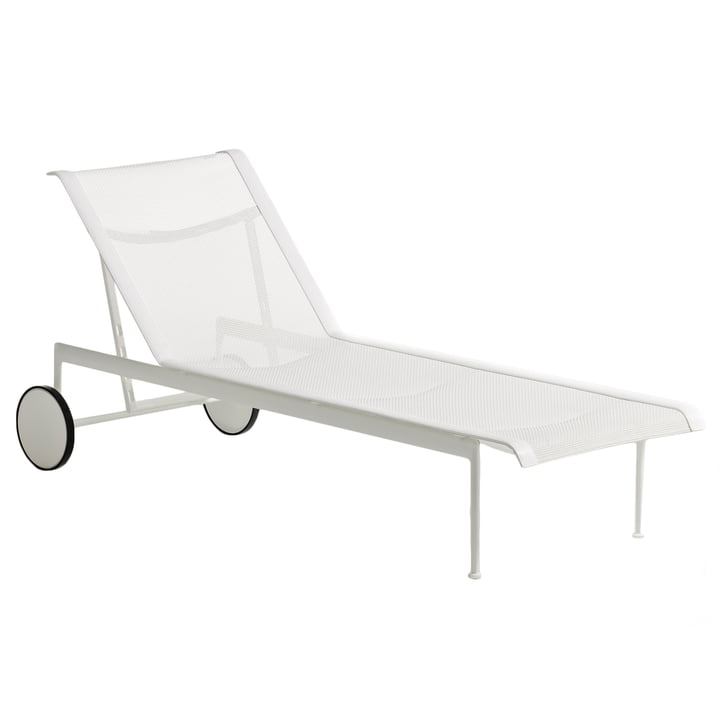 Knoll - 1966 adjustable lounger, white