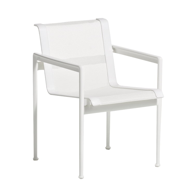 Knoll - 1966 Dining chair with armrests, white