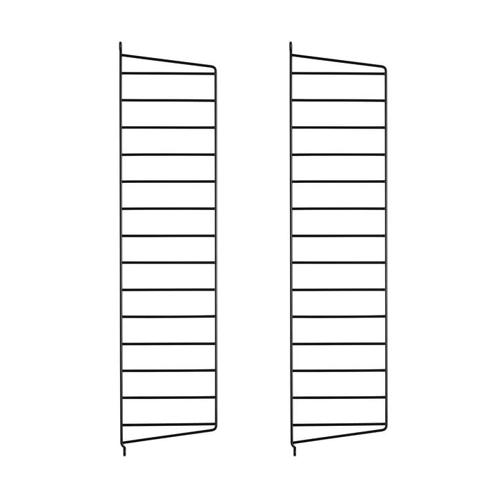 Wall Ladder for String Shelf 75 cm from String in Black (2-pack)