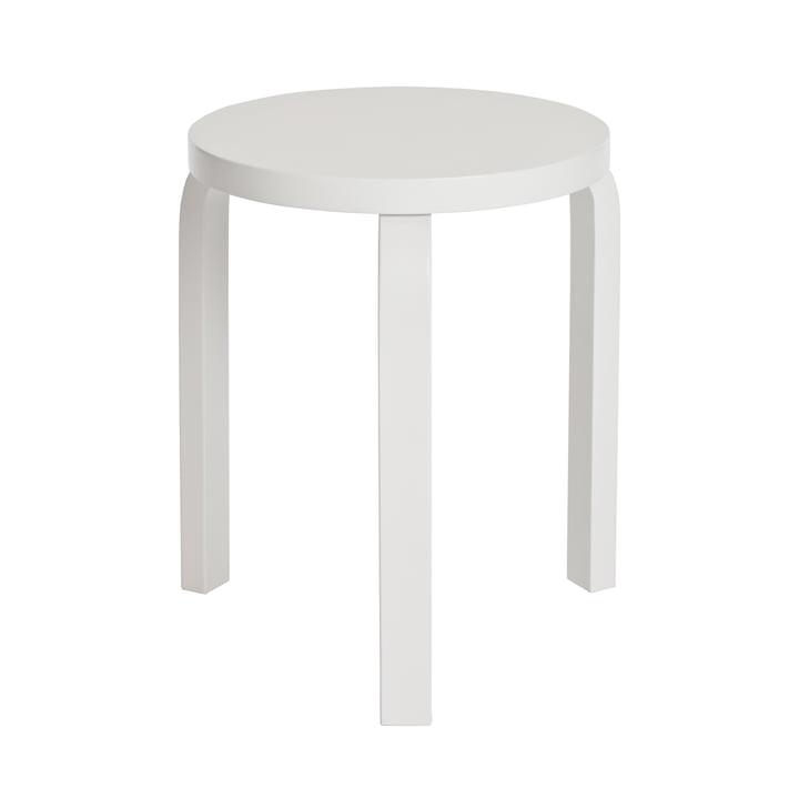 Artek - Stool 60, white / white