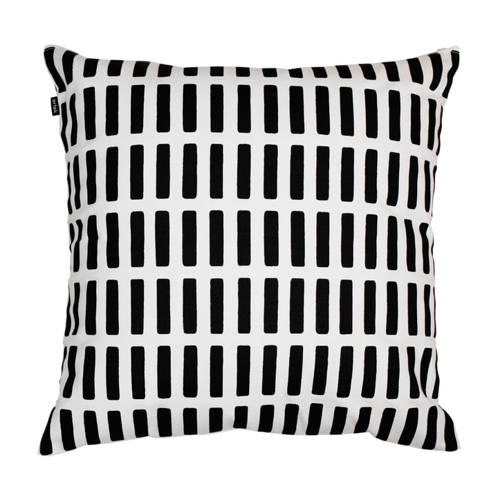 Artek - Siena cushion cover, white/ black