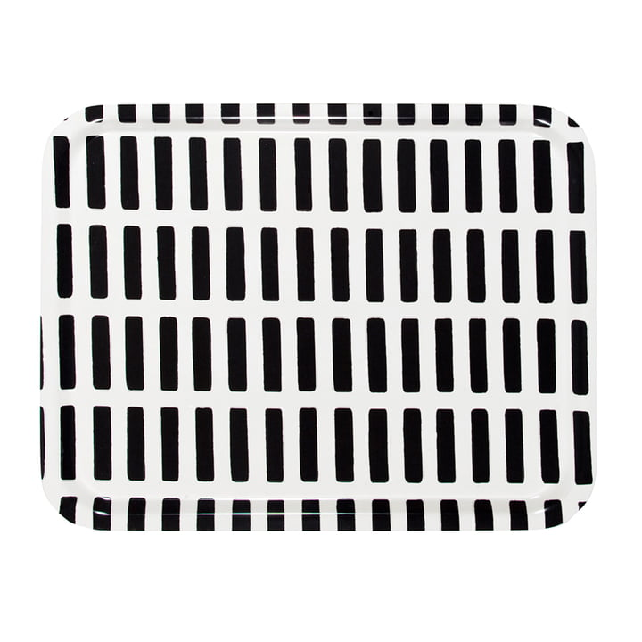 Artek - Siena tray, large, white/ black