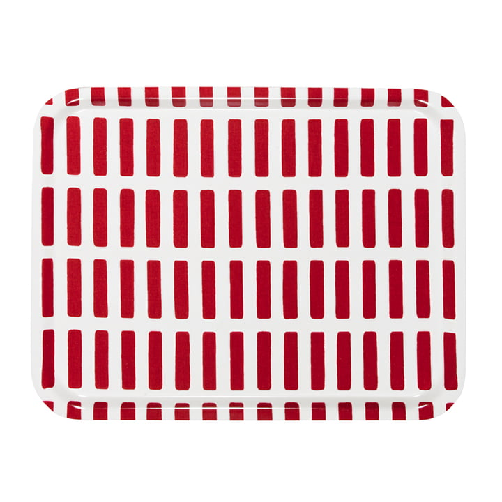 Artek - Siena tray, large, red/ white