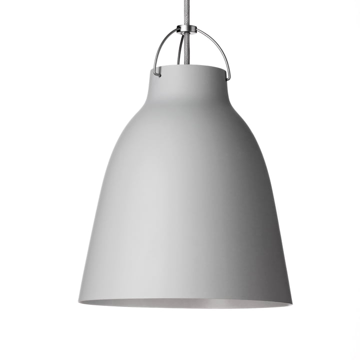 Caravaggio P3 Pendant Lamp by Fritz Hansen in matt, light grey (25)