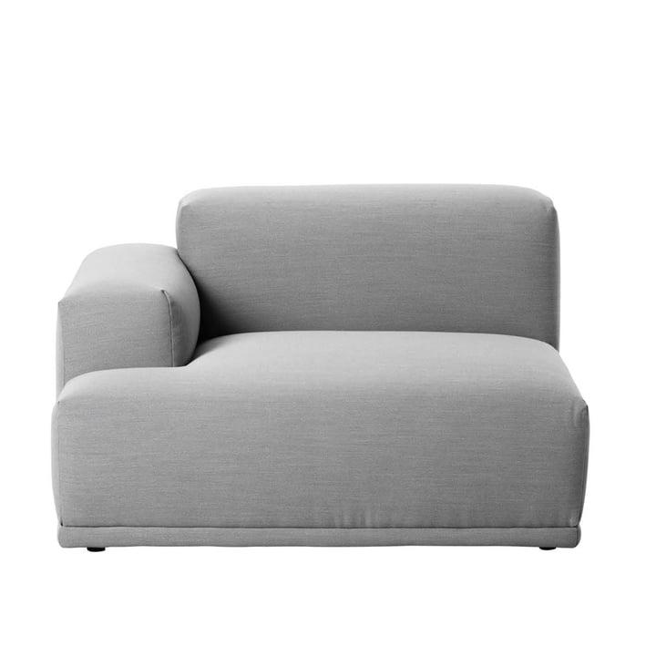 Muuto - Connect sofa, corner, right armrest, Remix 123
