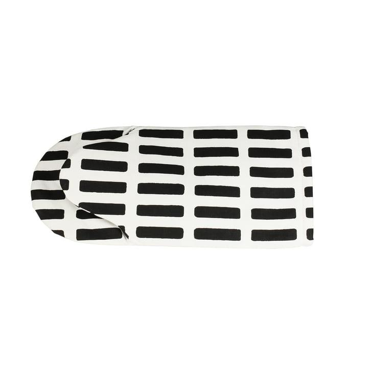 Artek - Siena oven mitten, white/ black