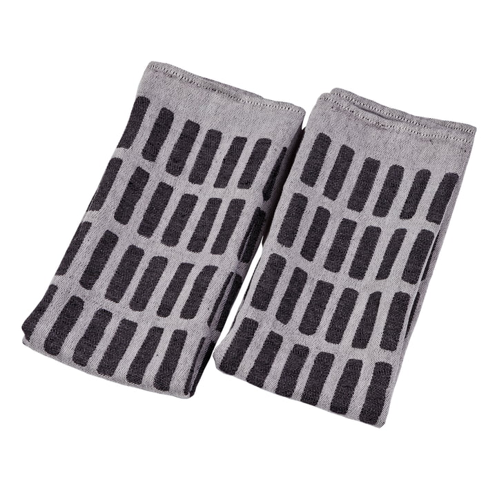 Artek - Siena tea towel, set of 2, white / black