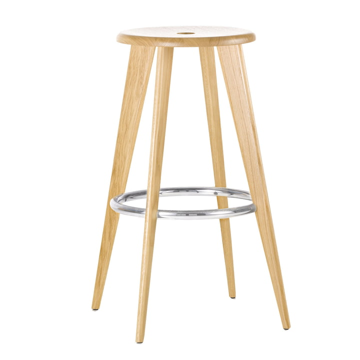 Vitra - Tabouret Haut Barstool made of natural oak wood