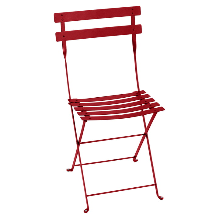 Bistro Folding chair by Fermob in poppy red metal