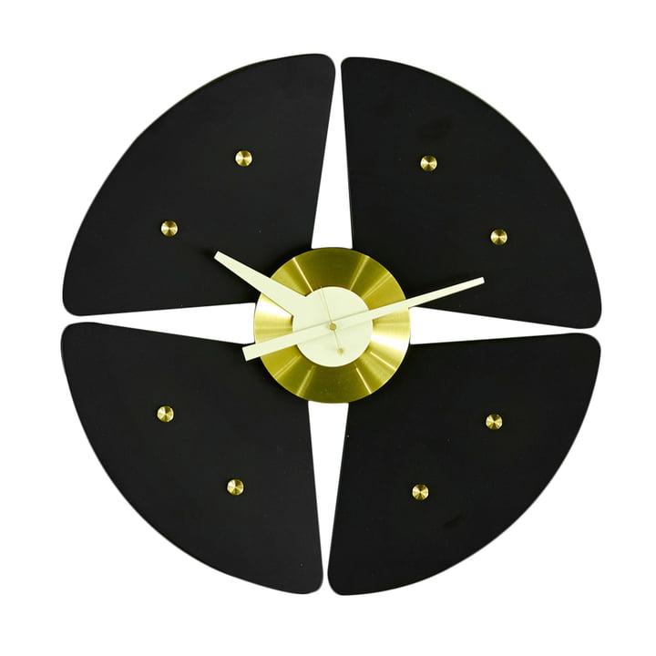 Vitra - Petal Clock, black/ brass