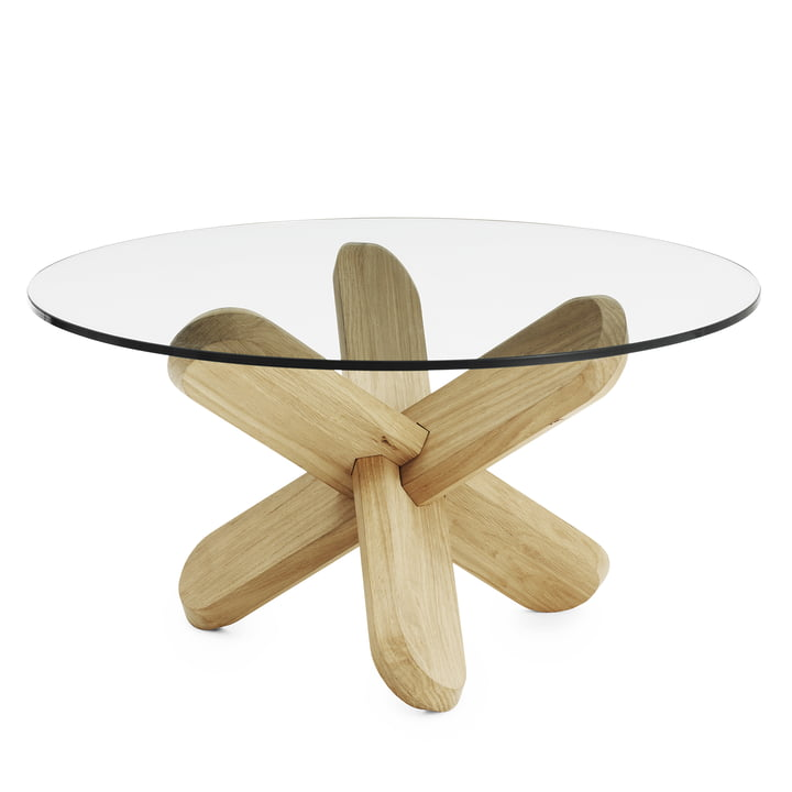 Normann Copenhagen - Ding coffee table, glass, oak