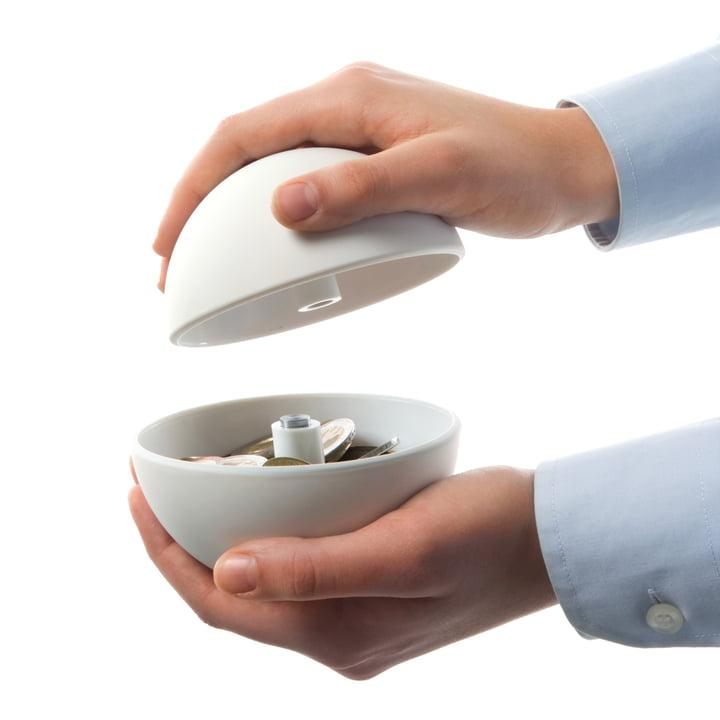 Authentics - Giro money box, white - opening
