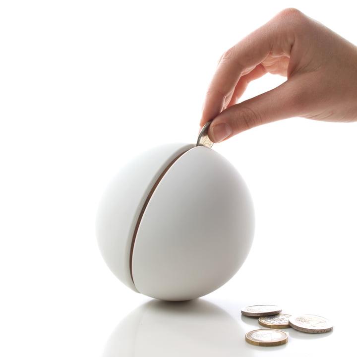 Authentics - Giro money box, white - inserting money