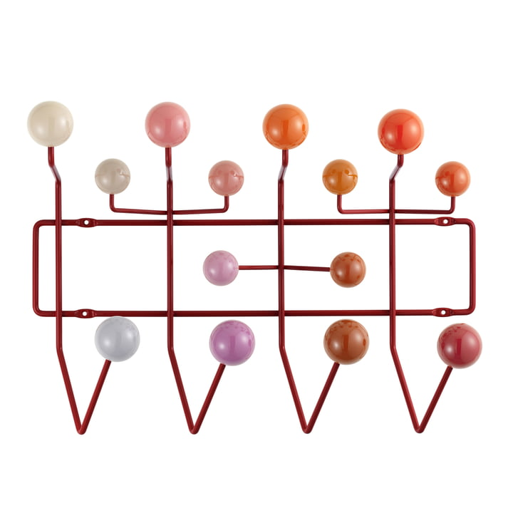 Hang it all coat rack by Vitra in different shades of red