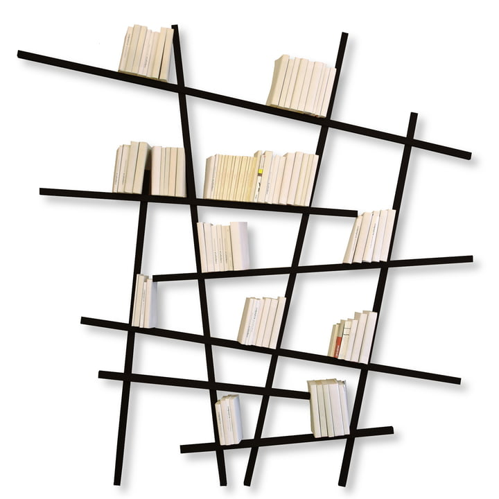 Edition Compagnie - Mikado bookshelf, large, black