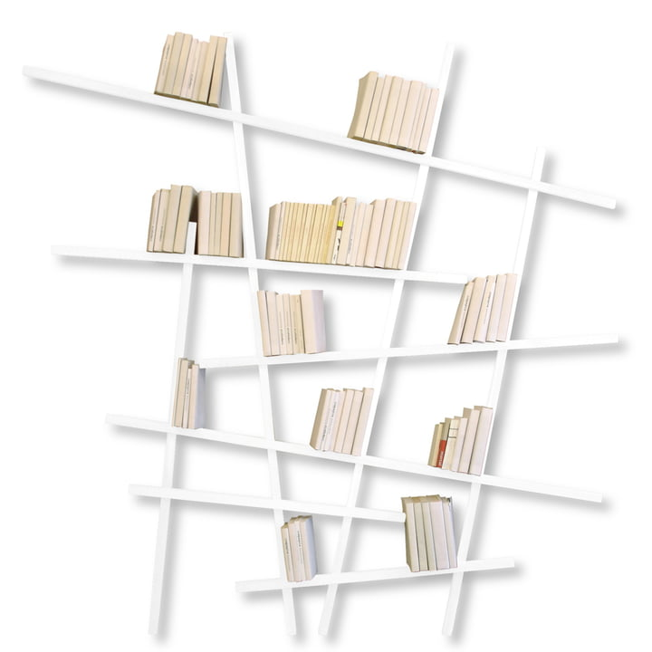 Edition Compagnie - Mikado bookshelf, large, white
