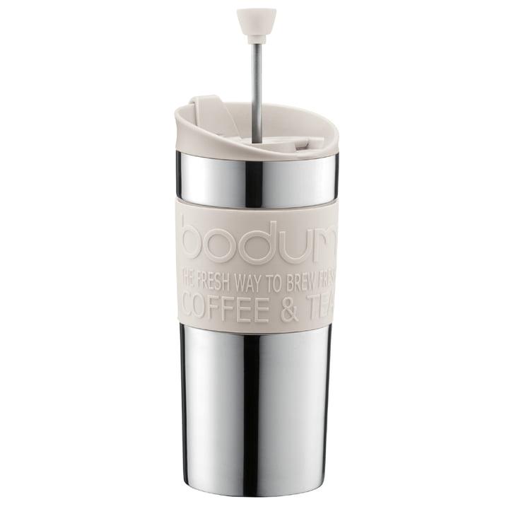 Bodum - Travel Press - stainless steel, 0.35L, cream