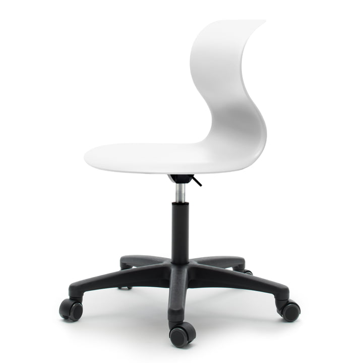 Flötotto - Pro 6 swivel chair, white, soft wheels