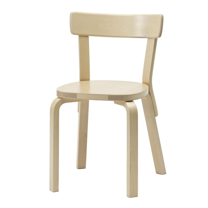 Artek - Chair 69, birch, without cushion