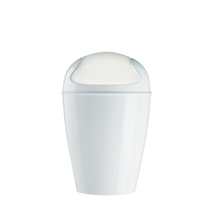 Koziol - DEL M Dustbin with swinging lid, white