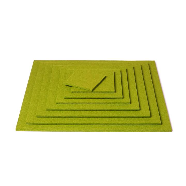 Hey Sign - Square Trivet, verde - pile