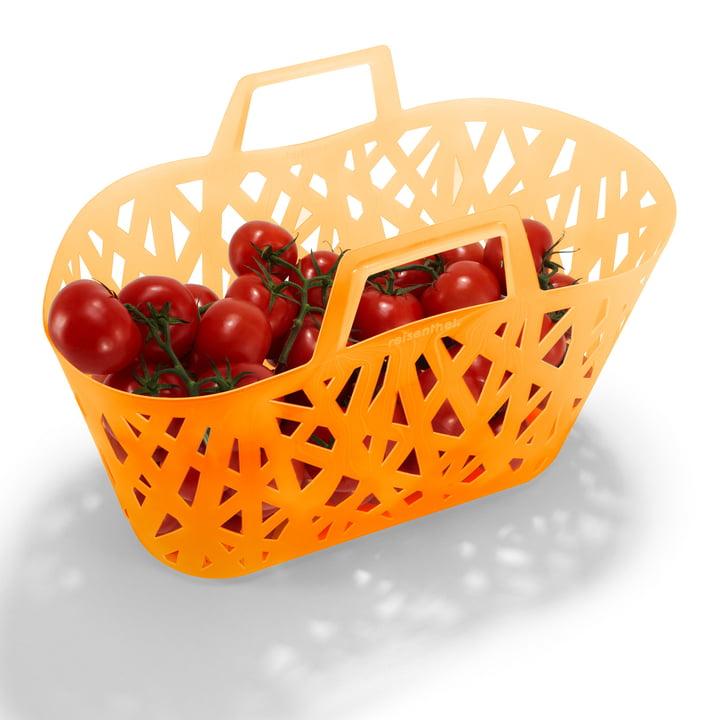 reisenthel - nestbasket, neon orange - with tomatoes