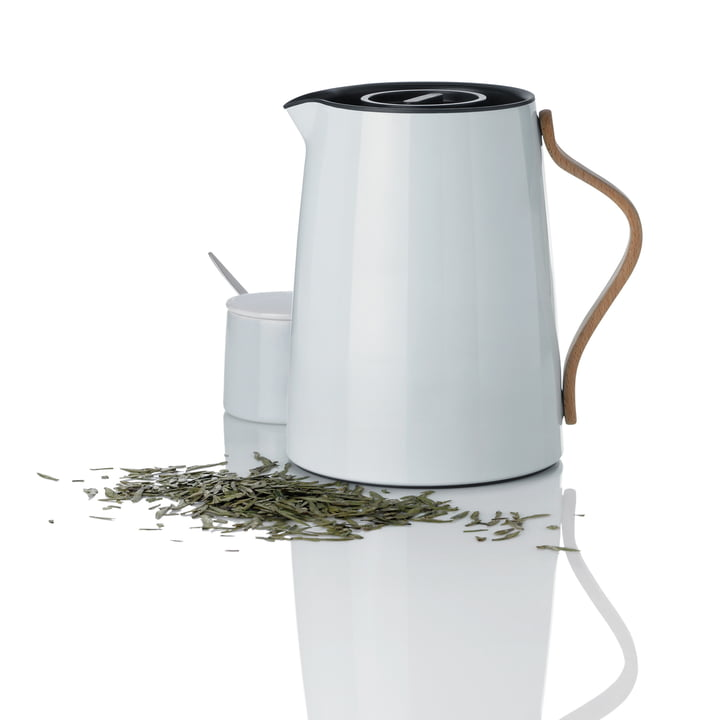 Stelton - Emma Teapot white and Sugar Bowl