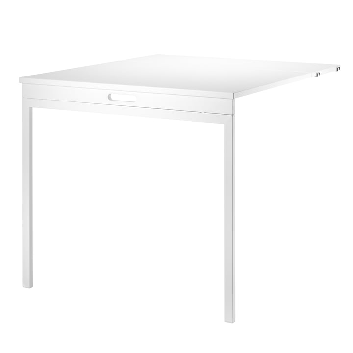 Folding Table by String in White