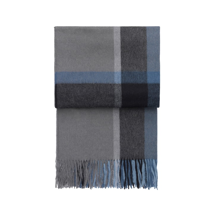 Elvang - Manhattan blanket, steel blue / dusty ocean