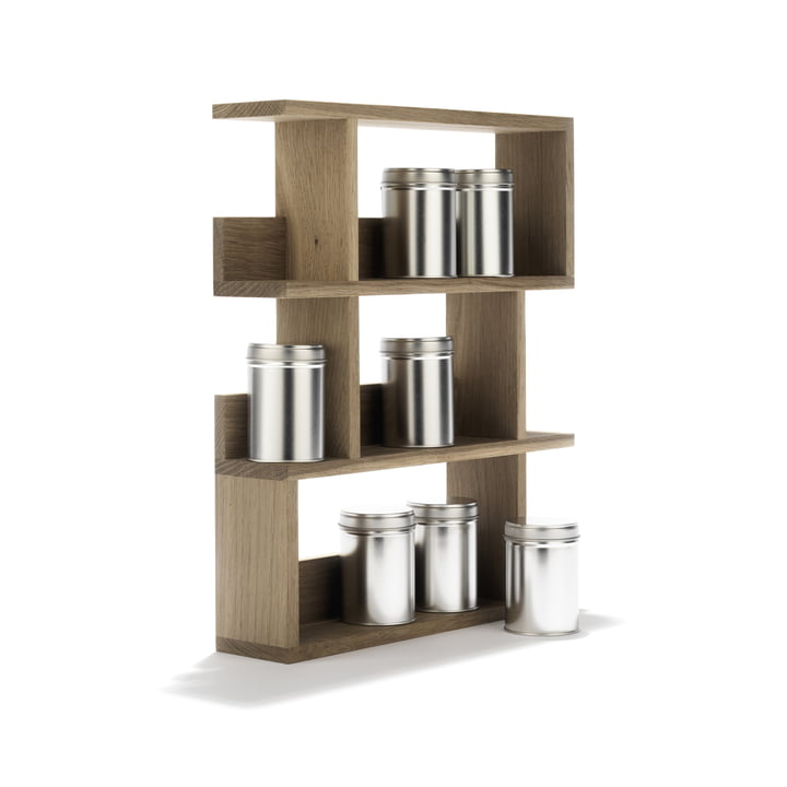 side by side - Spice Rack - inclined, with jars