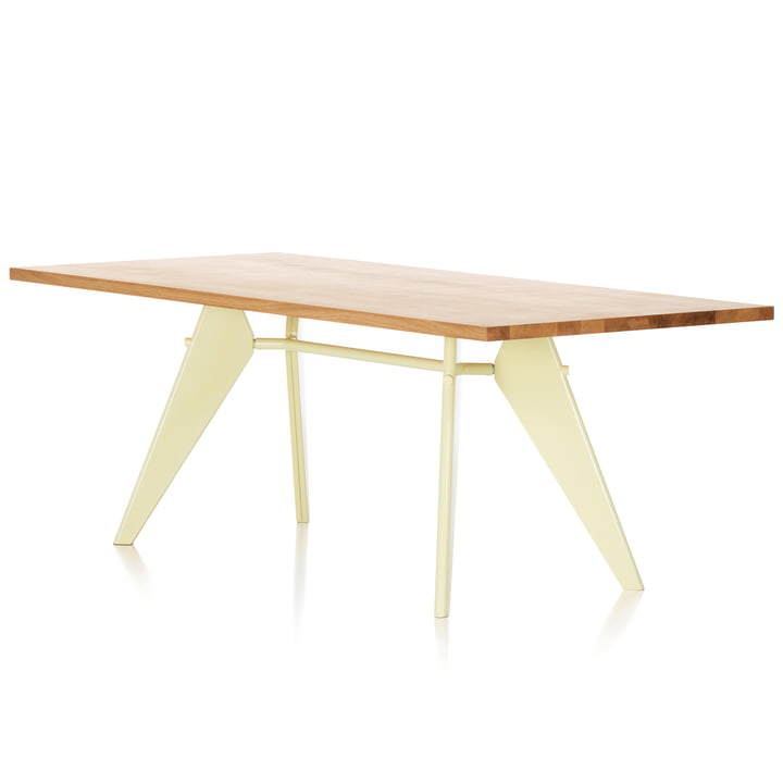 Vitra - EM Table (massive wood), 240 cm, oak natural/ecru