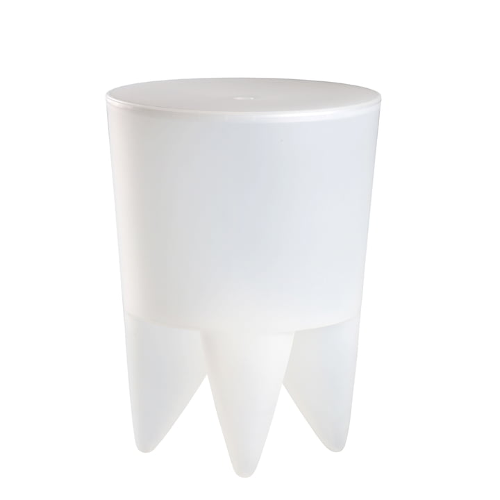 Bubu 1er Stool, white translucent from xO Design