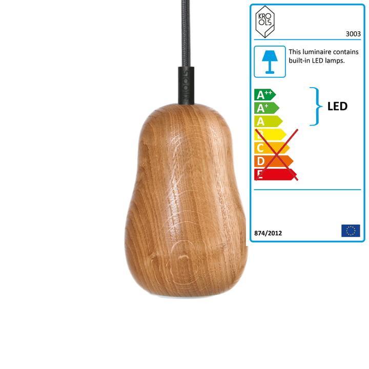 Krools - Babula S1, pendant luminaire, oak