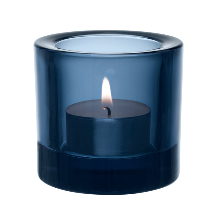 Iittala - Kivi tea light holder, rain blue