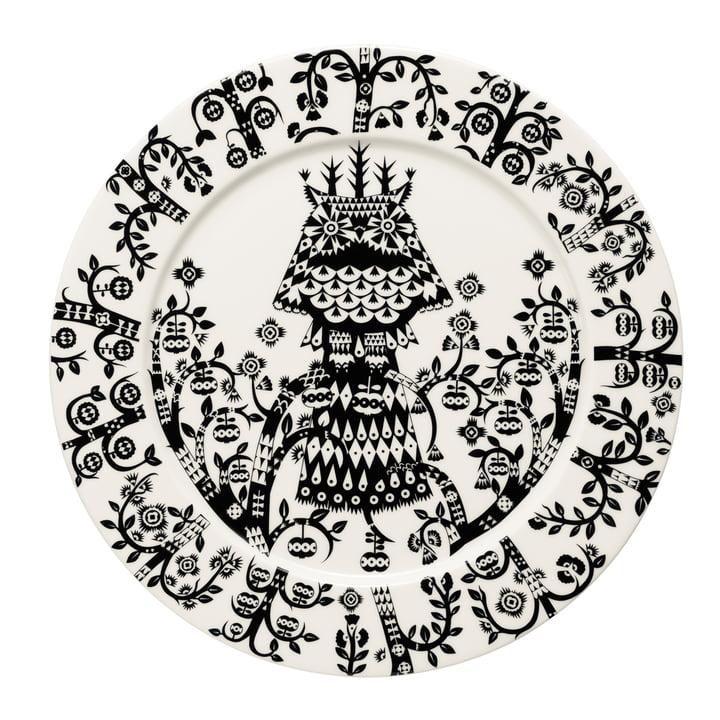 Iittala - Taika plate flat, black Ø 27 cm