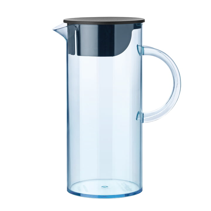 Stelton - Jug with lid, blue